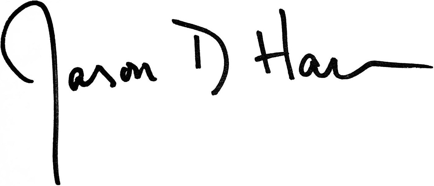 Pastor Jason Harris' Signature